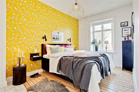 bright yellow bedroom bedroom with bright yellow wall bedroom