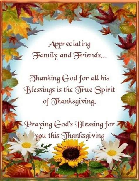 Appreciating Family And Friends Praying God S Blessing For You This Thanksgiving Pictures Thanksgiving Prayer Template