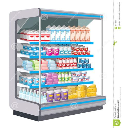 product section supermarket dairy products royalty free stock image
