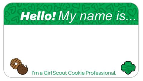 printable girl scout name tags news girl scout cookie banners