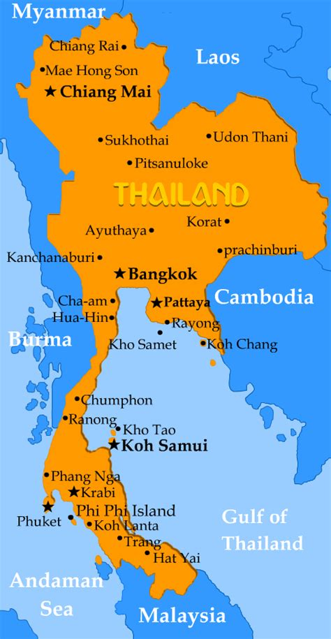 map of thailand country thailand map in