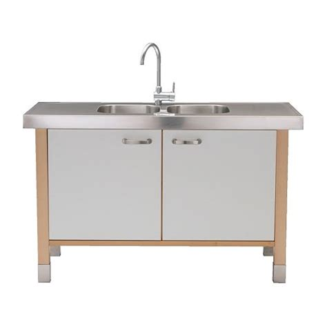 free standing kitchen cabinet with double bowl sink sustainable small house design prefab small kitchen