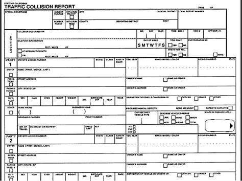 traffic report form template how to read a traffic collision report torklaw