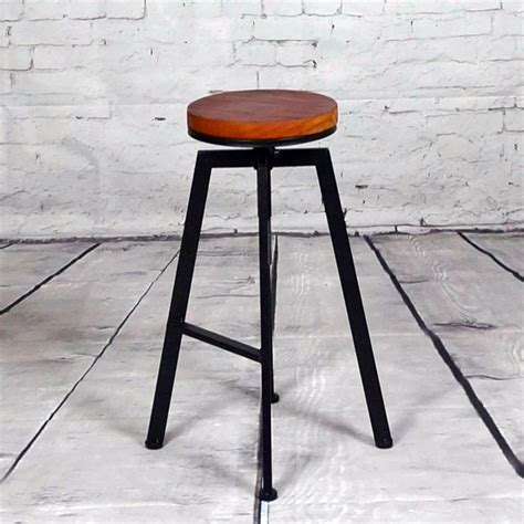 Wrought Iron Bar Stools Wood Seat by European Retro Do The Wrought Iron Wood Bar Stool