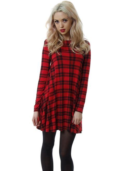 long sleeve tartan swing dress tartan swing dress tartan jersey dress tartan dresses