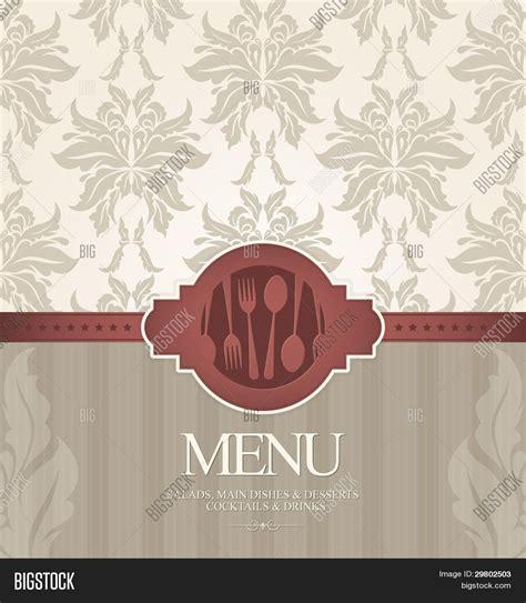restaurant menu design seamless stripped background and toque