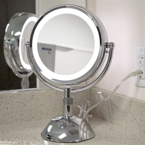 lighted makeup mirror in style lighted makeup mirrors the homy design