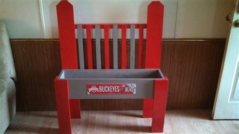 ohio state bench ohio state buckeyes planter bench by supersweetcrafts on