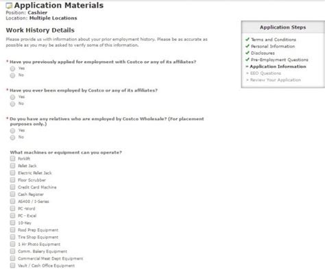 Costco Application Process Costco Application Career Guide Application Review