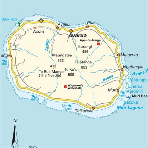 cook islands map cook island tourist attractions tourist destinations