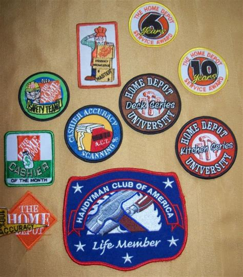 home depot tools employee award handyman patches lot 10