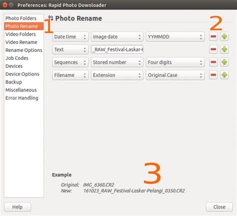format cr2 adalah manajemen berkas file foto dengan rapid photo downloader