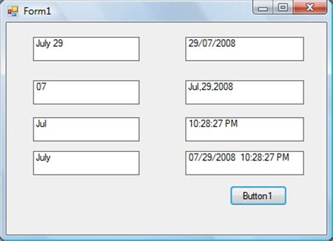 format date vb net visual basic 2012 lesson 16 formatting date and time