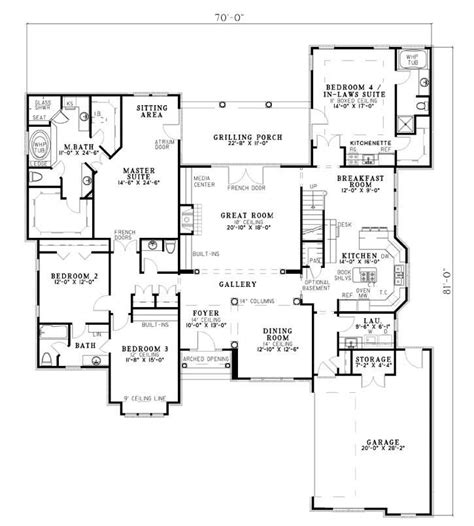 House Plans With Inlaw Quarters by Linden Avenue House Plan 7094 With In Laws Quarters