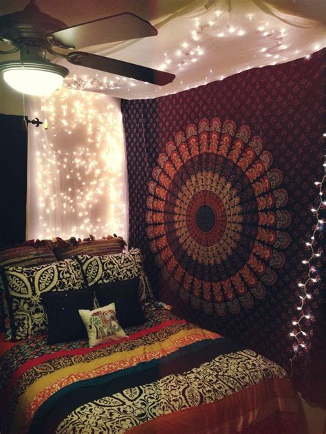 bed tapestry indian round floral mandala hippie dorm room tapestry wall