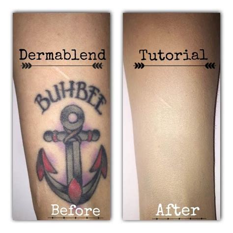 dermablend tattoo cover up tutorial youtube