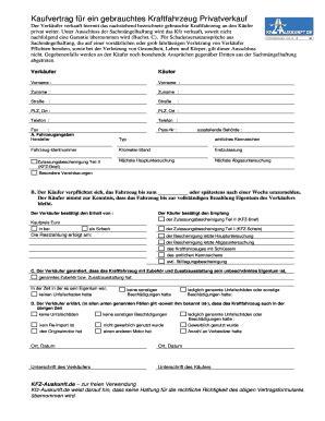Kaufvertrag Auto Gewerblich An Privat Kostenlos by Kaufvertrag Fr Pkw Kaufvertrag Fr Pkw Fillable Online