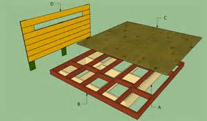 King Size Bed Base Plans Platform Bed Frame Plans Howtospecialist How To Build
