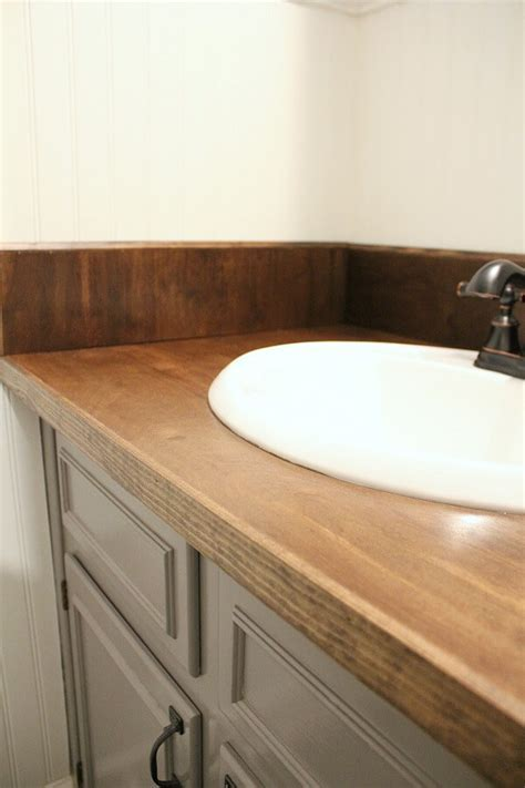 DIY Wood Bathroom Countertop: An easy way to Change your