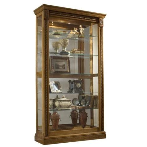 light wood curio cabinets estate oak curio cabinet display glass oak sliding door