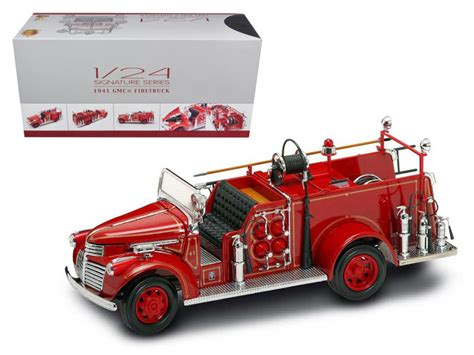 Acesoris Diecast Skala 24 1941 gmc engine with accessories 1 24 diecast model car by road signature