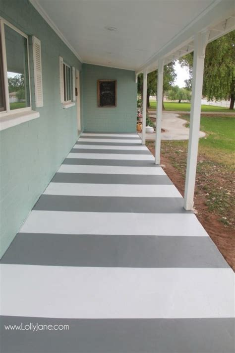 diy painted striped concrete flooring check out this