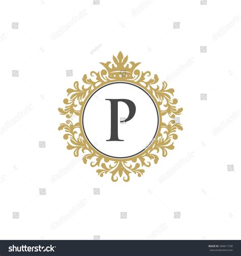 With A L by P Initial Logo Luxury Ornament Crown Logo Stock Vector