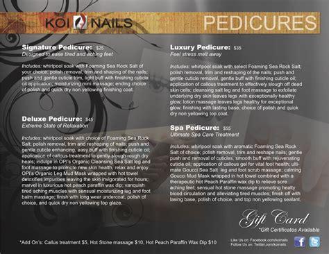 Nail Salon Services by Nail Salon Services Menu Salon Menu Koi Nails Nail Salon