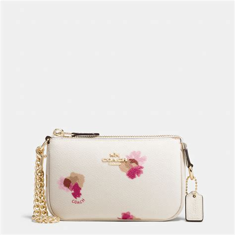 Coach Flowery coach nolita wristlet 15 in floral print coated canvas in white lyst