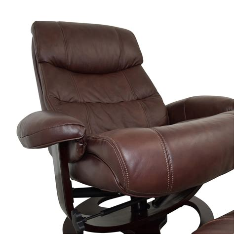 brown leather chair with ottoman 59 off macy s macy s aby brown leather recliner chair