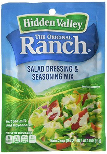 hidden valley salad dressing seasoning mix spicy ranch 1 oz ebay hidden valley 071100004434 hidden valley original ranch