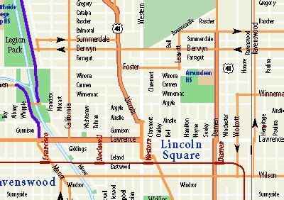 map of streets maps by chicago cartographics