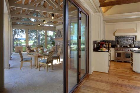 Inside Porch Doors Inside Outside Kitchens