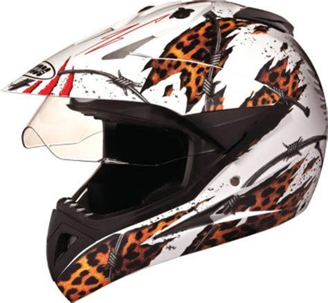 studds motocross helmet studds motocross d1 with visor motorsports helmet l white