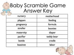 free printable baby shower scramble word answers baby