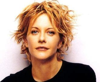 meg ryan messy hair styles meg ryan with short messy short haircut with layers and
