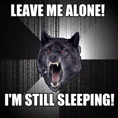 Leave Me Alone Meme - meme creator leave me alone i m still sleeping meme