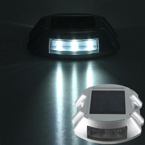 Solar Led Driveway Lights Solar Power 6 Led Pathway Driveway Light Deck Step Garden
