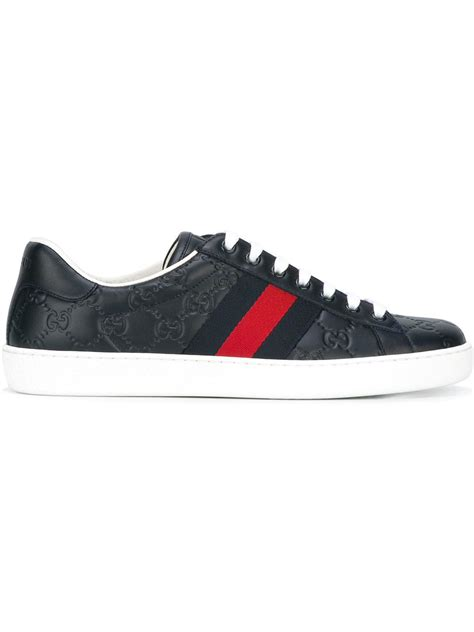 Gucci Shoes 868 1a gucci ace signature sneakers in blue for lyst