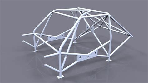 cage for car roll cage race car frame 3d model max ige igs iges wrl wrz stp cgtrader