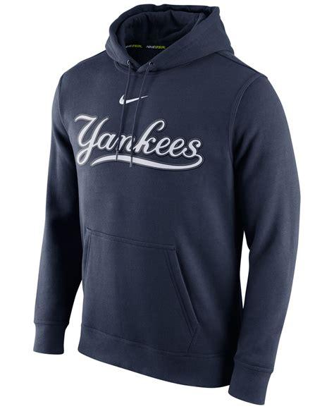Sweater Hoodie Nike Navy 2 nike s new york yankees club hoodie in blue for lyst