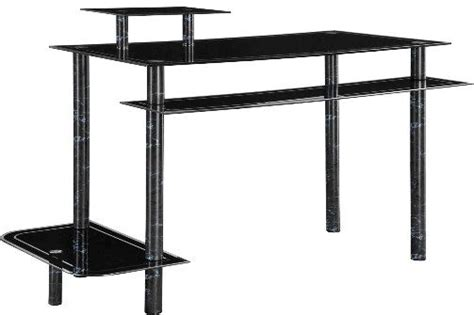 innovex glass computer desk black innovex desk desk design ideas
