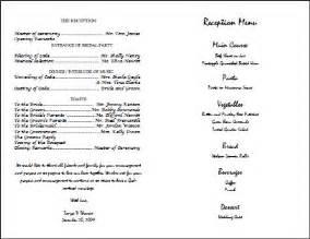best photos of wedding reception program template