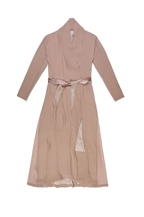 L 842 Transparent Top Bottom Costume blushed silk kimono dress dresses jumpsuits