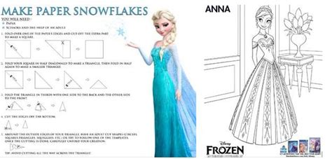 How To Make A Snowflake With Construction Paper - disney frozen archives the owl