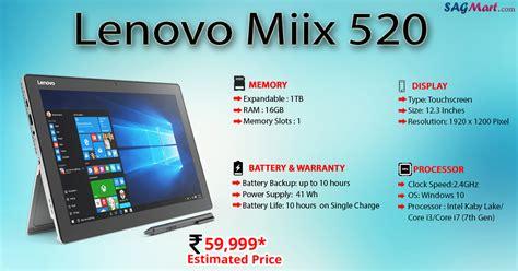 Lenovo Miix 520 Lenovo Miix 520 Price India Specs And Reviews Sagmart