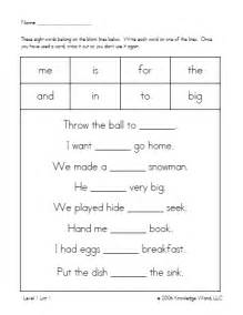 Printable Sentences For Kindergarten » Home Design 2017