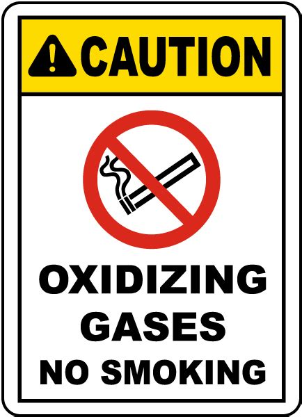 no smoking sign leed oxidizing gases no smoking sign j2587 by safetysign com