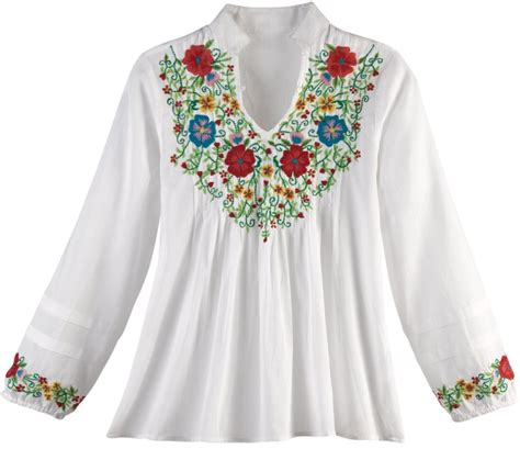 Flower Embroidered Blouse s embroidered flower garden blouse raluca fashion