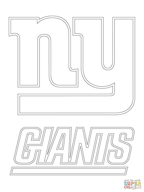 nfl giants coloring pages new york giants logo coloring page free printable